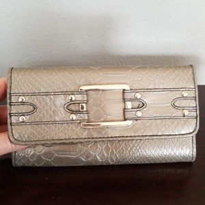 Handbags - Silver Gunmetal Snake pattern Wallet